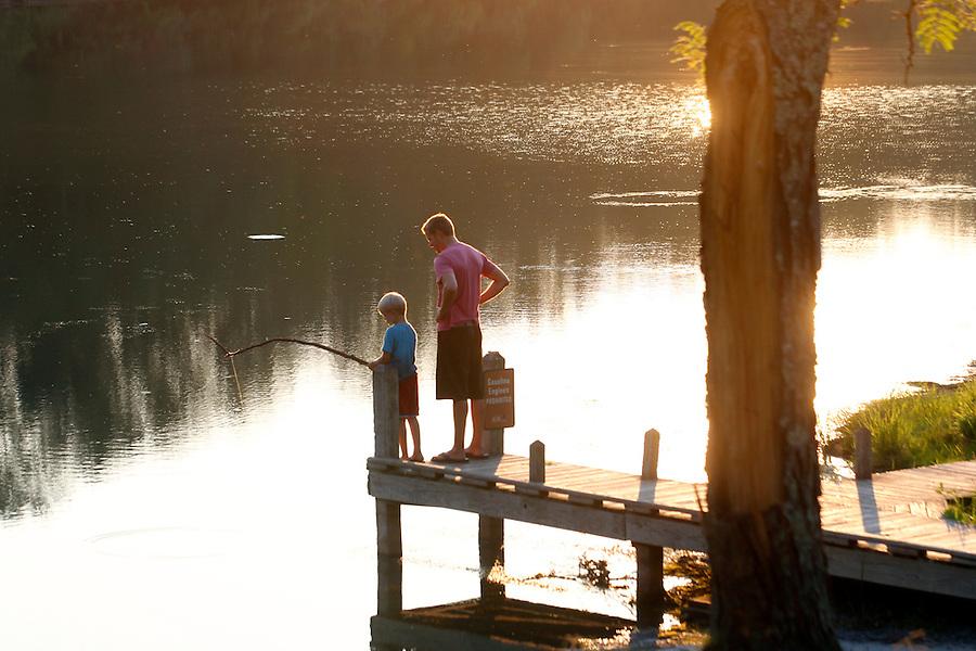 Fishing in Beavercreek in Albemarle County, VA. Photo/Andrew Shurtleff