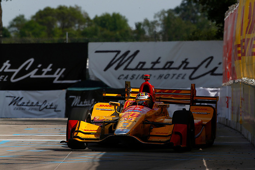 Verizon IndyCar Series<br /> Chevrolet Detroit Grand Prix Race 2<br /> Raceway at Belle Isle Park, Detroit, MI USA<br /> Sunday 4 June 2017<br /> Ryan Hunter-Reay, Andretti Autosport Honda<br /> World Copyright: Phillip Abbott<br /> LAT Images<br /> ref: Digital Image abbott_detroit_0617_8099