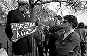 A Christian atheist explains his position at Speakers Corner, Hyde Park, London
