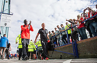 Sadio Mane of Liverpool arrives for his first match during the 2016/17 Pre Season Friendly match between Tranmere Rovers and Liverpool at Prenton Park, Birkenhead, England on 8 July 2016. Photo by PRiME Media Images.