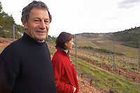 Isabelle and Matthieu Champart Domaine Mas Champart St Chinian. Languedoc. Owner winemaker. The vineyard. France. Europe.