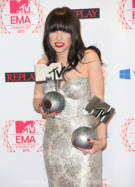 Carly Rae Jepsen at The MTV EMA's 2012 held at Festhalle - press room, Frankfurt, Germany. 11/11/2012 Picture by: Henry Harris / Featureflash