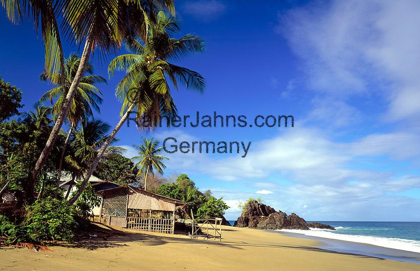 Trinidad & Tobago, Commonwealth, Tobago, Great Courland Bay: Black Rock Beach