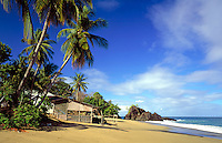 Trinidad & Tobago, Commonwealth, Tobago, Great Courland Bay: Black Rock Beach
