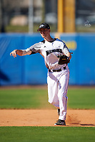 Wisconsin-Milwaukee Panthers shortstop Eric Solberg (9) during a game against the Bethune-Cookman Wildcats on February 26, 2016 at Chain of Lakes Stadium in Winter Haven, Florida.  Wisconsin-Milwaukee defeated Bethune-Cookman 11-0.  (Mike Janes/Four Seam Images)