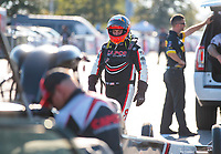 Sep 27, 2019; Madison, IL, USA; NHRA top fuel driver Billy Torrence during qualifying for the Midwest Nationals at World Wide Technology Raceway. Mandatory Credit: Mark J. Rebilas-USA TODAY Sports