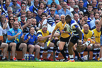 Semesa Rokoduguni of Bath Rugby breaks down the right wing. Aviva Premiership semi-final, between Bath Rugby and Leicester Tigers on May 23, 2015 at the Recreation Ground in Bath, England. Photo by: Patrick Khachfe / Onside Images