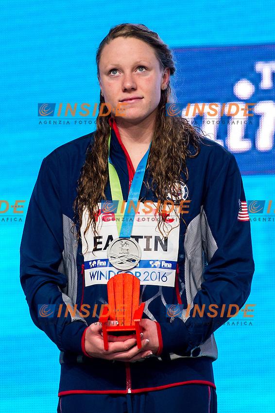 EASTIN Ella USA Silver Medal<br /> Women's 400m Individual Medley<br /> 13th Fina World Swimming Championships 25m <br /> Windsor  Dec. 6th, 2016 - Day01 Finals<br /> WFCU Centre - Windsor Ontario Canada CAN <br /> 20161206 WFCU Centre - Windsor Ontario Canada CAN <br /> Photo &copy; Giorgio Scala/Deepbluemedia/Insidefoto