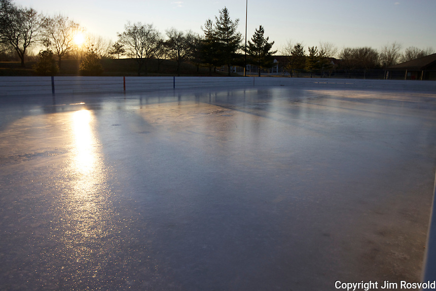 7 Jan 12: Rink on a Saturday morning at Quarry Park in Eagan, MN.
