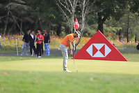 Joost Luiten (NED) on the 1st green during the final round of the WGC HSBC Champions, Sheshan Golf Club, Shanghai, China. 03/11/2019.<br /> Picture Fran Caffrey / Golffile.ie<br /> <br /> All photo usage must carry mandatory copyright credit (© Golffile | Fran Caffrey)