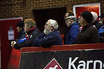 Kidderminster Harriers 3 Gainsborough Trinity 0, 19/11/2016. Aggborough, National League North. Home fans keeping an eye on the action at Aggborough, home of Kidderminster Harriers as they played visitors Gainsborough Trinity in a National League North fixture. Harriers were formed in 1886 and have played at their current home since 1890. They won this match  by 3-0 watched by a crowd of 1465. Photo by Colin McPherson.