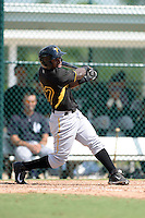 Pittsburgh Pirates outfielder Tito Polo (87) during an Instructional League game against the New York Yankees on September 18, 2014 at the Pirate City in Bradenton, Florida.  (Mike Janes/Four Seam Images)