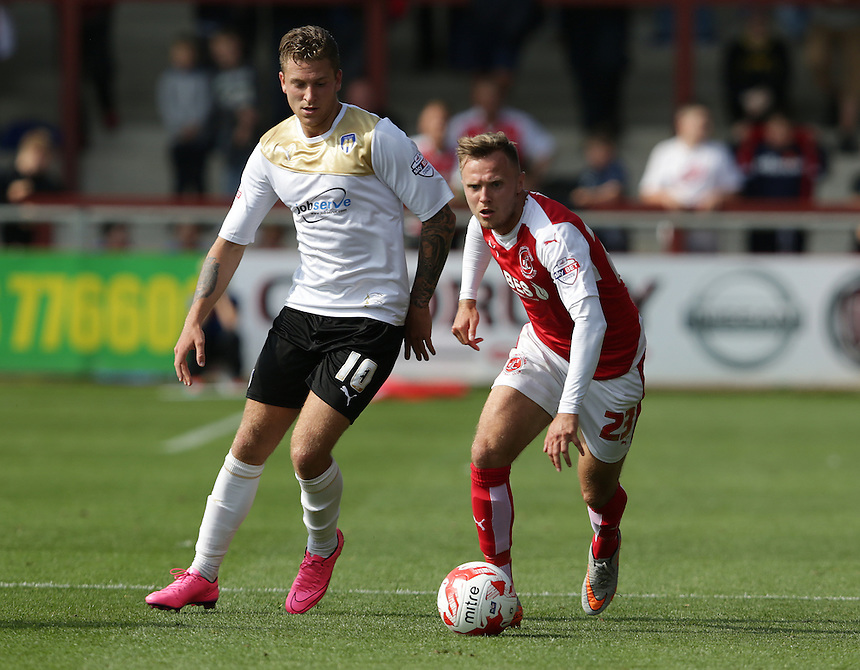 Fleetwood Town's David Ball<br /> <br /> Photographer Stephen White/CameraSport<br /> <br /> Football - The Football League Sky Bet League One - Fleetwood Town v Colchester United - Saturday 22nd August 2015 - Highbury Stadium - Fleetwood<br /> <br /> &copy; CameraSport - 43 Linden Ave. Countesthorpe. Leicester. England. LE8 5PG - Tel: +44 (0) 116 277 4147 - admin@camerasport.com - www.camerasport.com
