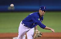 A.J Morris pitcher inicial de italia hace lanzamientos en el primer inning ,durante el partido de desempate italia vs Venezuela, World Baseball Classic en estadio Charros de Jalisco en Guadalajara, Mexico. Marzo 13, 2017. (Photo: AP/Luis Gutierrez)