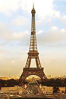 Paris: Eiffel Tower. From the Trocedero.