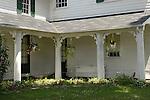 French Azilum Historic Site.John LaPorte House 1836.View of back porch.