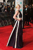 London, UK. 14 February 2016. Actress Gwendoline Christie. Red carpet arrivals for the 69th EE British Academy Film Awards, BAFTAs, at the Royal Opera House. © Vibrant Pictures/Alamy Live News