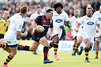 Jamie George of Saracens goes on the attack. Aviva Premiership match, between Saracens and Wasps on October 8, 2017 at Allianz Park in London, England. Photo by: Patrick Khachfe / JMP
