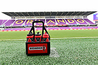 Orlando, FL - Saturday July 20, 2019:  BodyArmor water bottles prior to a regular season National Women's Soccer League (NWSL) match between the Orlando Pride and the Sky Blue FC at Exploria Stadium.