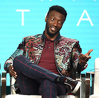 """PASADENA, CA - JANUARY 31: Aldis Hodge of """"City On A Hill"""" attends the Showtime portion of the 2019 Television Critics Association Winter Press Tour at the Langham Huntington on January 31, 2019, in Pasadena, California. (Photo by Frank Micelotta/PictureGroup)"""