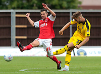 Fleetwood Town's Jason Holt chases down Oxford United's Luke Garbutt<br /> <br /> Photographer David Shipman/CameraSport<br /> <br /> The EFL Sky Bet League One - Oxford United v Fleetwood Town - Saturday August 11th 2018 - Kassam Stadium - Oxford<br /> <br /> World Copyright &copy; 2018 CameraSport. All rights reserved. 43 Linden Ave. Countesthorpe. Leicester. England. LE8 5PG - Tel: +44 (0) 116 277 4147 - admin@camerasport.com - www.camerasport.com