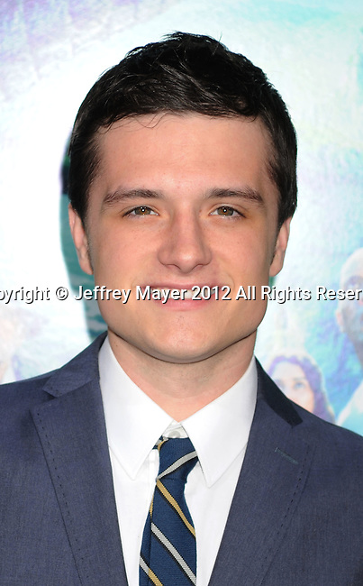HOLLYWOOD, CA - FEBRUARY 02: Josh Hutcherson attends 'Journey 2: The Mysterious Island' Los Angeles Premiere at Grauman's Chinese Theatre on February 2, 2012 in Hollywood, California.