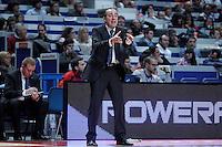 Asefa Estudiantes' coach Txus Vidorreta during Liga Endesa ACB match.November 11,2012. (ALTERPHOTOS/Acero) /NortePhoto