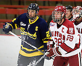 Chris Barton (Merrimack - 23), Chris Huxley (Harvard - 28) - The visiting Merrimack College Warriors defeated the Harvard University Crimson 3-1 (EN) at Bright Hockey Center on Tuesday, November 30, 2010.