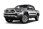 Stock pictures of low aggressive front three quarter view of 2016 Toyota Tacoma Limited 4 Door Pickup Low Aggressive