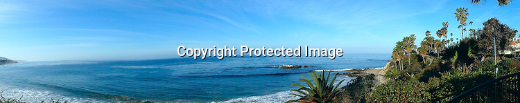Panaroma of Laguna Beach Stock Photo