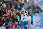 09/12/2016, Pokljuka - IBU Biathlon World Cup.<br /> Simon Desthieux competes at the sprint race in Pokljuka, Slovenia on 09/12/2016. French Martin Fourcade ended first and keeps it's yellow jersey.