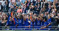 Chelsea's Gary Cahill lifts the trophy with team mates <br /> <br /> Photographer Craig Mercer/CameraSport<br /> <br /> Emirates FA Cup Final - Chelsea v Manchester United - Saturday 19th May 2018 - Wembley Stadium - London<br />  <br /> World Copyright &copy; 2018 CameraSport. All rights reserved. 43 Linden Ave. Countesthorpe. Leicester. England. LE8 5PG - Tel: +44 (0) 116 277 4147 - admin@camerasport.com - www.camerasport.com