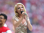 Emily Hague sings Abide with Me during the Emirates FA Cup Final match at Wembley Stadium, London. Picture date: May 27th, 2017.Picture credit should read: David Klein/Sportimage