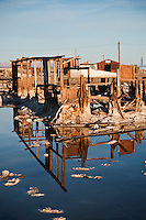 Ruin of house at Bombay Beach, Salton Sea, California