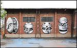 L'opera di PHLEGM sui muri di BUNKER, il nuovo progetto di Urbe nell'ex stabilimento SICMA Torino. Settembre 2012