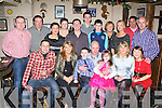 Mikey Hickey, Cordal celebrated his 40th birthday with his family and friends in Browne's bar Castleisland on Saturday night front row l-r: Sinead, Micheál, Mikey, Ava Hickey, Maeve O'Connor and Orla McCarthy. Back row: Colm, Matt and Ann Keane, Laura and Francie Brosnan, Darragh and Cian O'Connor, Nora and Emer Keane, Tom O'Connor, Keith McCarthy and Seanie Hickey.