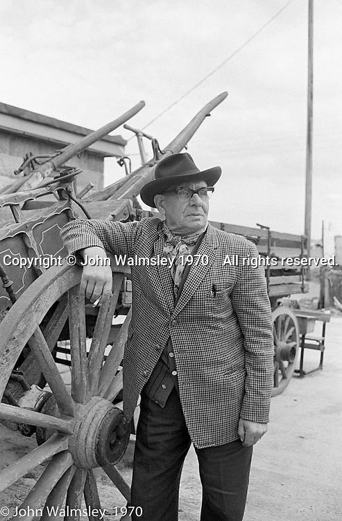 Sylvester Gordon Boswell, Romany leader.  Boston, Lincolnshire, UK.  1970
