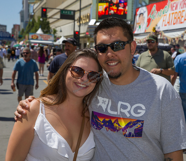 Megan and Nathan during the Great Eldorado BBQ, Brews and Blues Festival in Reno, Nevada on Saturday, June 16, 2018.