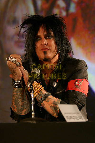"NIKKI SIXX OF MOTLEY CRUE.""Better Live Than Dead"" Tour Announcement and Press Conference held at the Palladium, Hollywood, California, USA, 07 December 2004..portrait headshot  tattoo tattooes.Ref: ADM.www.capitalpictures.com.sales@capitalpictures.com.©Zach Lipp/AdMedia/Capital Pictures ."
