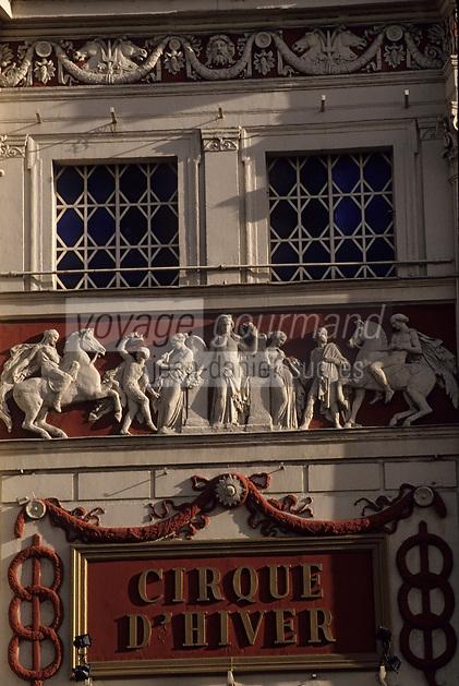 Europe/France/Ile-de-France/Paris: Le cirque d'Hiver boulevard des filles du calvaire