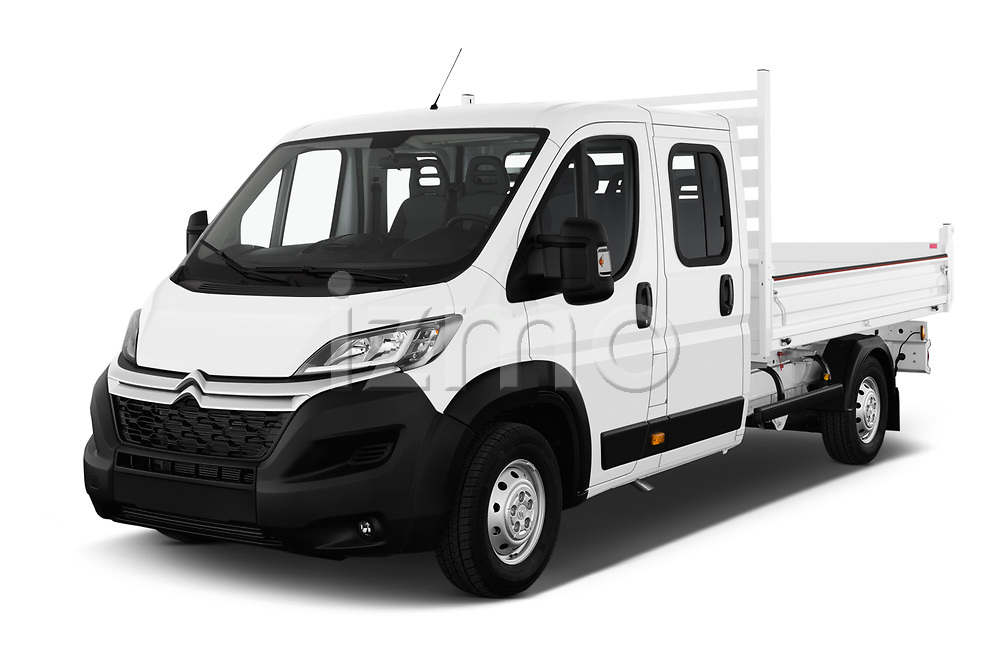 2019 Citroen Jumper - 4 Door Chassis Cab Angular Front stock photos of front three quarter view
