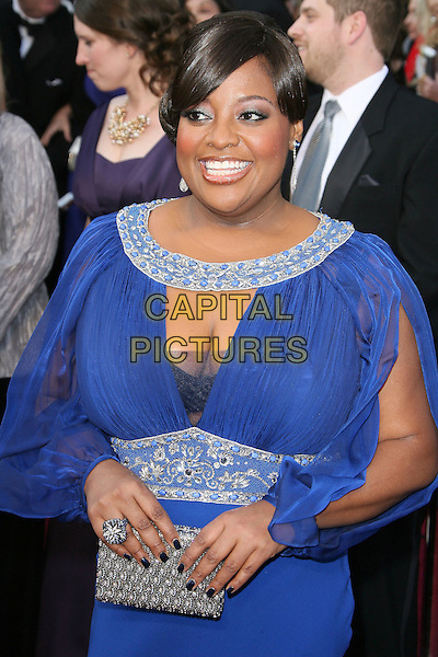Sherri Shepherd.84th Annual Academy Awards held at the Hollywood & Highland Center, Hollywood, California, USA..February 26th, 2012.oscars half length blue dress sheer silver clutch bag cleavage .CAP/ADM.©AdMedia/Capital Pictures.