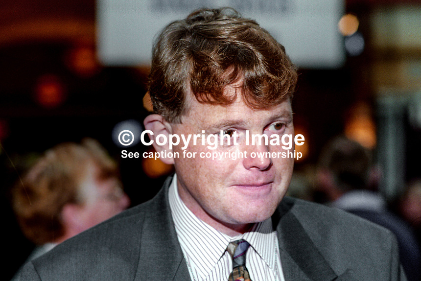 Michael Dobbs, novelist, writer, author, attendee, annual conference, Conservative Party, UK, 1993109655<br />