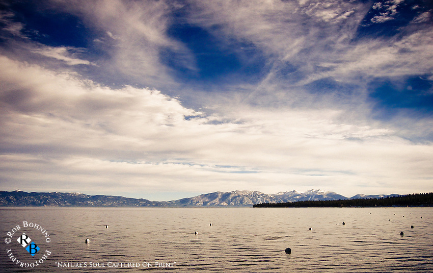 Lake Tahoe on a cold December day
