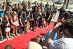 "SIOUX FALLS, SD - JULY 12:  Rock star Alice Cooper walks the red carpet to the dedication of the ""Welcome to my Nightmare"" studio at the Brennan Rock & Roll Academy Friday afternoon in Sioux Falls, SD.  (Photo by Dave Eggen/Inertia)"