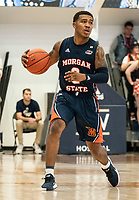 WASHINGTON, DC - NOVEMBER 16: Isaiah Burke #2 of Morgan State in action during a game between Morgan State University and George Washington University at The Smith Center on November 16, 2019 in Washington, DC.
