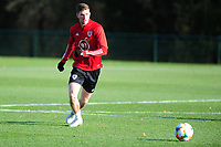 Pictured: Chris Mepham of Wales in action during the Wales Training Session at The Vale Resort in Cardiff, Wales, UK. Monday 11 November 2019