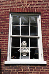Bust of George Washington in window of townhouse Waterford Commonwealth of Virginia,  window,Fine Art Photography by Ron Bennett, Fine Art, Fine Art photography, Art Photography, Copyright RonBennettPhotography.com ©