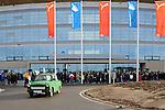 Sinsheim 24.01.2009, 1.Fu&szlig;ball Bundesliga Stadioner&ouml;ffnung bei 1899 TSG Hoffenheim in der Rhein-Neckar Arena, wohl das sch&ouml;nste Auto an diesem Tag, zumindest f&uuml;r die Hoffenheim Fans<br /> <br /> Foto &copy; Rhein-Neckar-Picture *** Foto ist honorarpflichtig! *** Auf Anfrage in h&ouml;herer Qualit&auml;t/Aufl&ouml;sung. Belegexemplar erbeten.