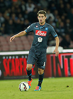 Jorginho    in action during the Italian Serie A soccer match between SSC Napoli and Verona  at San Paolo stadium in Naples, October 26, 2014